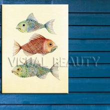 Wholesale Colorful Fish Canvas Art For Decor