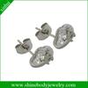 beautiful body piercing stud earring jewelry with CZ