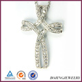 925 sterling silver cross pendant large cross pendants costume jewelry with crystal pendant