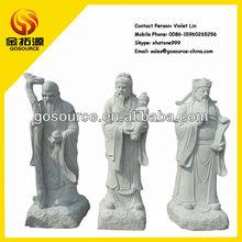 chinese god of wealth,fortune,longevity:fu lu shou statue