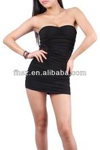 2015 New arrival Off-shoulder spring dress ladies sexy black dress