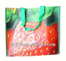 customized logo pp woven bag shopping