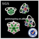 Silver colorful stone lastest wedding ring designs
