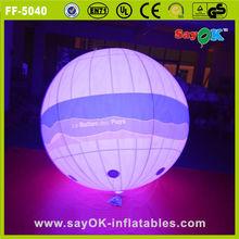 sayok customized durable advertising led light inflatable helium balloon