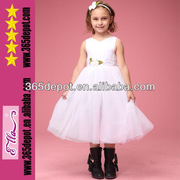 2014 hotesale meninas vestido branco vestido primeira comunhão