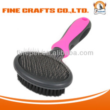 Finepet double-side grooming and cleaning soft pet slicker brush