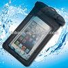 Black TPU inflatable waterproof bag for iphone