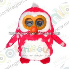 2014 hot selling early educational toys English Spanish language Hibou plush owl toy for kids