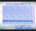 Blaue blume druck pvc-folie, transparent pvc druck tischdecken
