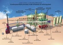 2015 latest design recycling waste oil to diesel and gasoline oil distillation machine