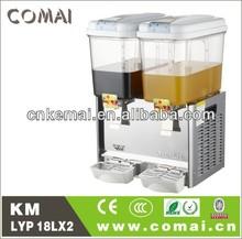 CE certification 18Lx2 orange fruit juice dispenser