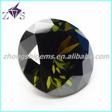 Round shape dark olive color attrative gemstones for dresses