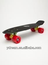 Plastic Penny Style Cruiser Skateboard Black Deck Complete Skateboard Kids Gift