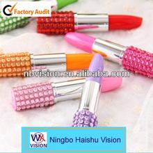 Novelty Shiny Gleamy Lipstick Style Ballpoint Pen/Lovely Gift/Wholesale