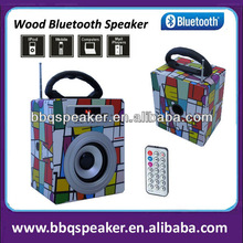 5inch wooden multifunctional smartphone mp3 car amplifier my vision bluetooth speaker