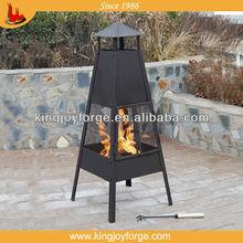 Antique bronze outdoor steel pyramid chiminea