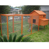 Wooden chicken breeding cage with large run CC073