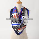 100 Silk Hand Printed Fashion Hijab Abaya 2014