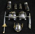 venta al por mayor de encargo de metal mini japonés de la armadura y accesorios de armas