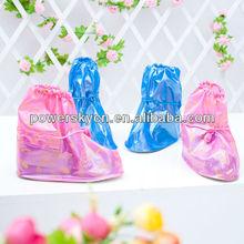 Blue /Pink PVC Rain Shoe Covers Children's fashion low water tube PVC rain