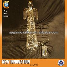 8L White LED Decorative Pattern Clear Glass Angel