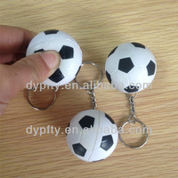 custom made 40mm PU foam soccer ball with Keyring