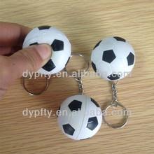 custom made 40mm PU foam soccer ball with Keyring