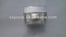 luxury square acrylic cosmetic cream jar of 50 ml