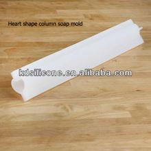 Silicone molds for concrete,Mini Heart Silicone Column Mold log soap moulds,silicone mold making rubber soap mold silicone