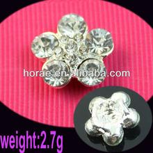 rhinestone button covers,small flower rhinestone button