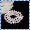 8mm perfect round big chunky pearl necklace
