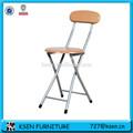 Creativo moderno pequeño barato de metal silla plegable de madera KC-7343N