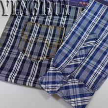 cotton plain check denim fabric