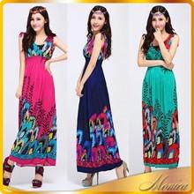 wholesale Ethnic Clothing 2014 Ladies Maxi Long Elegant Beach Wedding Dresses Plus Size Bohemian Dresses