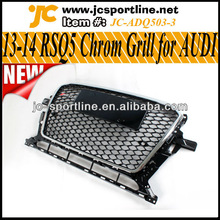 13-14 RSQ5 Front Bumper Mesh Car Grille,Q5 Chrom Grill for AUDI
