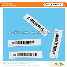 Anti-theft am soft label RF 58khz eas security system soft am barcode label