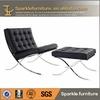Modern leather barcelona single sofa chair