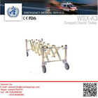 3 position compact church trolley; length adjustable church truck,medical trolley