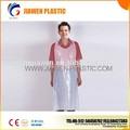 Polietileno de alta densidad ldpe desechables de plástico de cocina delantal/baberos de pe