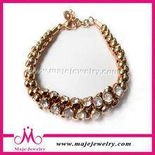 New product wholesale fashion men jewelry gold bracelet with zircon