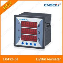 DM72-3I Three phase digtal ammeter high grade ampere meter