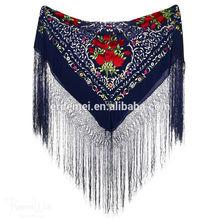 printed spanish flamenco manton shawl wholesale