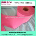 algodão tingido vermelho webbing lightweigh algodão fita