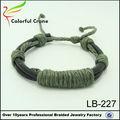 Meilleure vente 2014 mens. éco.- amicalequalité artificiels, bande de cuir pu bracelet fait main bijouterie en gros en chine