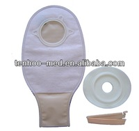 Two system colostomy bag open style