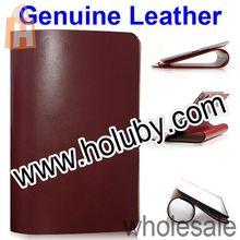 China Manufacture Luxury Folio Stand Genuine Leather Cover Case for iPad Mini 2 Retina