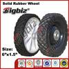 Powder rubber solid wheel, wholesale rubber wheels 6x2