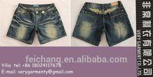 Moda para mujer short de los pantalones vaqueros de los pantalones vaqueros cortos