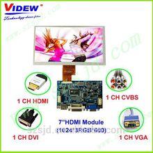 "7"" HDMI (1024*600) TFT LCD Control Board with HDMI/CVBS/VGA/DVI"