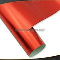 Espejo cromo de la cubierta de color rojo cepillado pvc etiqueta autoadhesiva para los coches, cepillado de vinilo rollo de embalaje con la película de la burbuja de aire libre